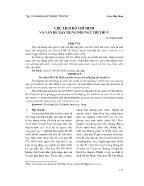 Giáo dục học - Chủ tịch Hồ Chí Minh và vấn đề xây dựng đội ngũ trí thức