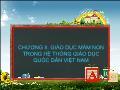 Giáo dục học - Chương II: Giáo dục mầm non trong hệ thống giáo dục quốc dân Việt Nam