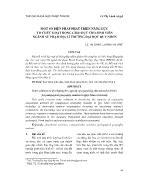 Giáo dục học - Một số biện pháp phát triển năng lực tổ chức hoạt động giáo dục cho sinh viên ngành sư phạm địa lí trường đại học Quy Nhơn