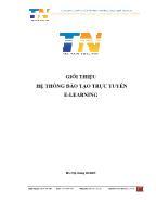 Giới thiệu hệ thống đào tạo trực tuyến E - Learning