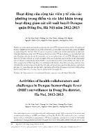 Hoạt động của cộng tác viên y tế của các phường trọng điểm và các khó khăn trong hoạt động giám sát sốt xuất huyết Dengue quận Đống Đa, Hà Nội năm 2012 - 2013