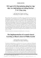 Kết quả triển khai phương pháp học tập dựa vào tình huống tại trường Đại học Y tế Công cộng