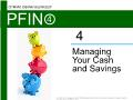 Lý thuyết tài chính - Managing your cash and savings