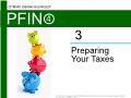 Lý thuyết tài chính - Preparing your taxes