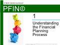 Lý thuyết tài chính - Understanding the financial planning process