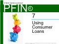 Lý thuyết tài chính - Using consumer loans