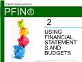 Lý thuyết tài chính - Using financial statements and budgets