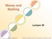 Ngân hàng tín dụng - Money and banking (lecture 30)