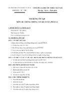 Nội dung ôn tập môn hệ thống thông tin kế toán (phần 2)