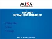 Phần mềm kế toán - Chương 8: Kế toán công cụ dụng cụ