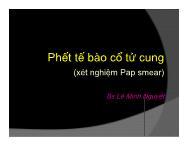 Phết tế bào cổ tử cung (xét nghiệm Pap smear)
