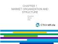 Quĩ đầu tư - Chapter 1: Market organization and structure
