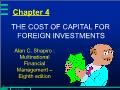 Quĩ đầu tư - Chapter 4: The cost of capital for foreign investments