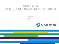 Quĩ đầu tư - Chapter 6: Portfolio risk and return: part II