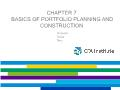 Quĩ đầu tư - Chapter 7: Basics of portfolio planning and construction