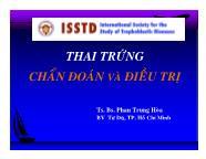 Sinh lí sinh sản - Thai trứng chẩn đoán và điều trị