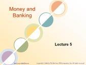 Tài chính doanh nghiệp - Money and banking (lecture 5)