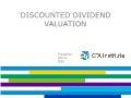Tài chính ngân hàng - Discounted dividend valuation