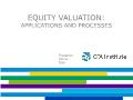 Tài chính ngân hàng - Equity valuation: Applications and processes