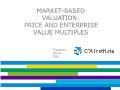 Tài chính ngân hàng - Market - Based valuation: Price and enterprise value multiples