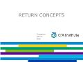 Tài chính ngân hàng - Return concepts