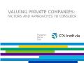 Tài chính ngân hàng - Valuing private companies: Factors and approaches to consider