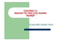 Tài chính quốc tế - Chương 12: Nguồn tài trợ của doanh nghiệp
