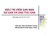 Tài liệu về Điều trị viêm gan mạn xơ gan và ung thư gan