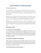 Thị trường chứng khoán - Bài 01: Khái quát về thị trường chứng khoán