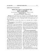 Tiếng Hà Nội và người Hà Nội - Một cách nhìn