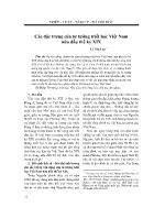 Triết học - Các đặc trưng của tư tưởng triết học Việt Nam nửa đầu thế kỷ XIX