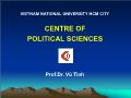 Triết học - Centre of political sciences