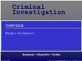 Xã hội học - Chương 13: Burglary investigation
