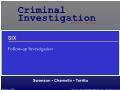 Xã hội học - Follow - Up investigation