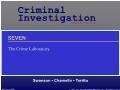 Xã hội học - The crime laboratory