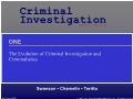 Xã hội học - The evolution of criminal investigation and criminalistics