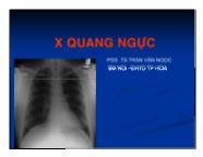 Y khoa y dược - X quang ngực