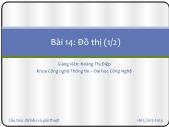 Bài giảng Cấu trúc dữ liệu và giải thuật - Bài 14: Đồ thị (1/2) - Hoàng Thị Điệp