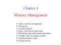 Bài giảng Nguyên lý hệ điều hành - Chapter 4: Memory Management