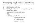 Bài giảng Thiết kế cơ sở dữ liệu - Chương 4: Lý thuyết thiết kế cơ sở dữ liệu