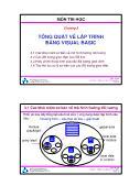 Bài giảng Thiết kế hệ điều hành - Chương 3: Tổng quát về lập trình bằng Visual Basic - Trường ĐH Bách Khoa TP HCM