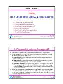 Bài giảng Thiết kế hệ điều hành - Chương 6: Các lệnh định nghĩa & khai báo VB - Trường ĐH Bách Khoa TP HCM