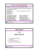 Bài giảng Thiết kế hệ điều hành - Chương 7: Biểu thức VB - Trường ĐH Bách Khoa TP HCM
