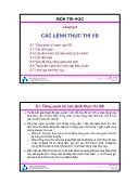 Bài giảng Thiết kế hệ điều hành - Chương 8: Các lệnh thực thi VB - Trường ĐH Bách Khoa TP HCM