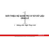 Giáo trình Hệ quản trị cơ sở dữ liệu Oracle - Chương 1: Giới thiệu hệ quản trị cơ sở dữ liệu Oracle - Ngô Thị Thùy Linh