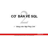 Giáo trình Hệ quản trị cơ sở dữ liệu Oracle - Chương 2: Cơ bản về SQL - Ngô Thị Thùy Linh