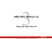 Giáo trình Hệ quản trị cơ sở dữ liệu Oracle - Chương 3: Kiến trúc Oracle 11g - Ngô Thị Thùy Linh