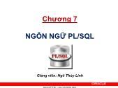 Giáo trình Hệ quản trị cơ sở dữ liệu Oracle - Chương 7: Ngôn ngữ PL/SQL - Ngô Thị Thùy Linh