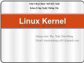 Giáo trình Mã nguồn mở - Bài 4: Linux Kernal - Trần Tiến Dũng