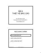 Giáo trình Tin quản lý Visual Foxpro - Bài 5: Thiết kế Báo cáo - Nguyễn Mạnh Hùng